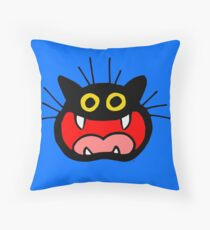 Crazy Cat by Cheerful Madness!! Throw Pillow