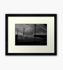 cloudy day at berlin mainstation Framed Print
