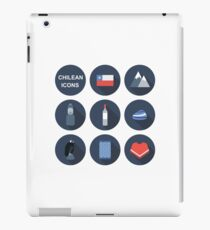 Chile icons. Chilean theme iPad Case/Skin