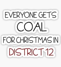 Coal for Christmas Sticker