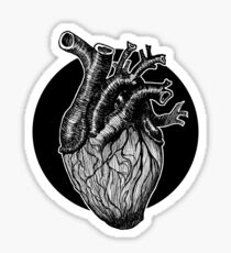 Heart -Black Sticker