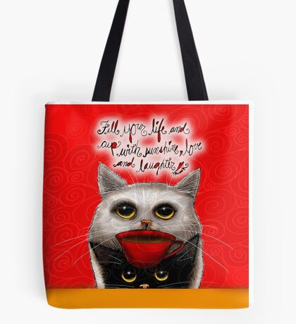 What my Coffee says to me March 5, 2016 Tote Bag
