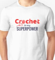 Crochet is My Superpower in Red T-Shirt