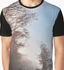 Misty North Point Woods Graphic T-Shirt