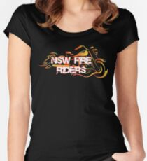 NSW Fire Riders Tees, Tanks, and Sweatshirts Women's Fitted Scoop T-Shirt