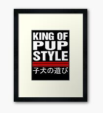 King Of Pup Style Framed Print