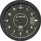 Altimeter Pilot Airplane Clock by forge22