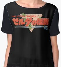 The Legend Of Zelda - Japanese Logo - Clean Chiffon Top