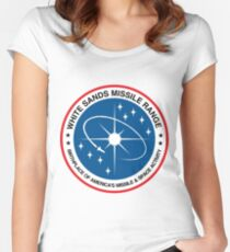 White Sands Missile Range (WSMR) Logo Women's Fitted Scoop T-Shirt