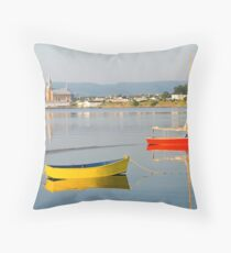 Cheticamp Harbour Throw Pillow