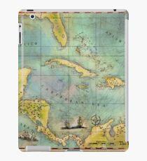 Caribbean Pirate + Treasure Map 1660 iPad Case/Skin