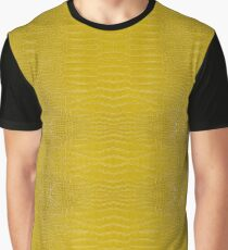Yellow Alligator Skin Graphic T-Shirt