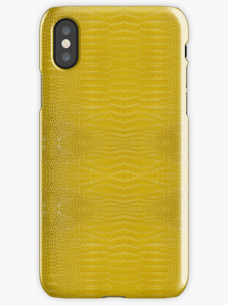 Yellow Alligator Skin by Looly Elzayat