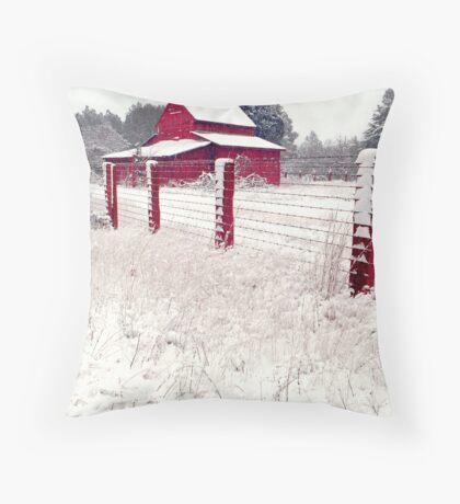 southern snow Throw Pillow