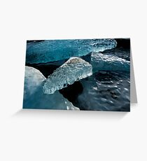 Ice Sand Snow Greeting Card