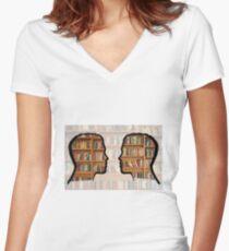 Livre  Women's Fitted V-Neck T-Shirt