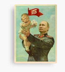BABY TRUMP WITH PUTIN Canvas Print