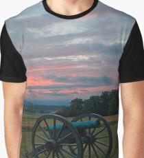 Gettysburg Cannon Sunset Graphic T-Shirt