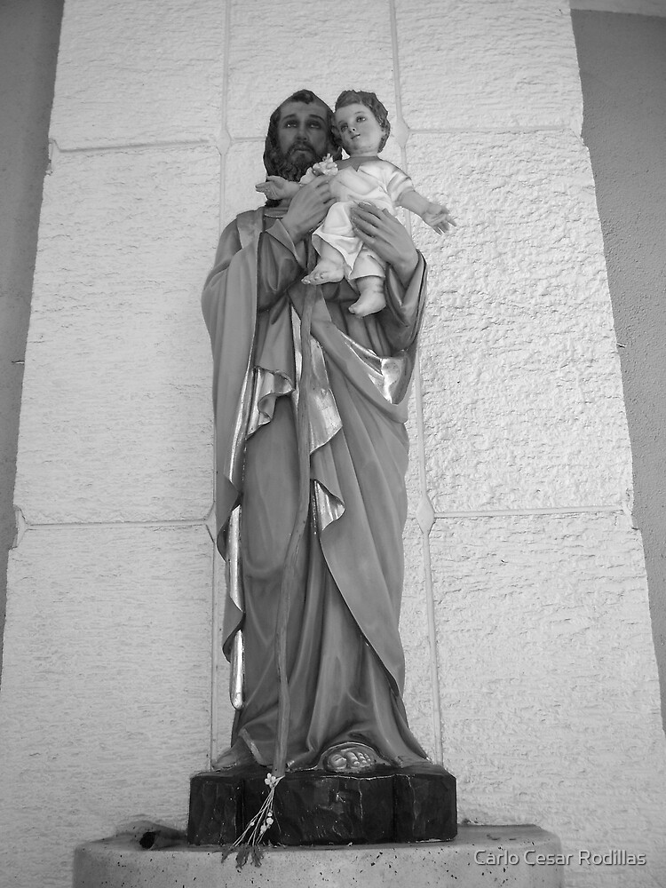 Statue of St. Joseph Holding the Infant Jesus Christ by Carlo Cesar Rodillas