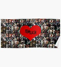 Femslash collage Poster