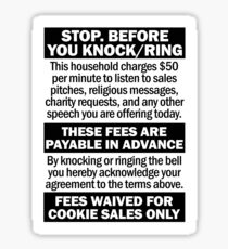 Soliciting Salesman Sign Sticker