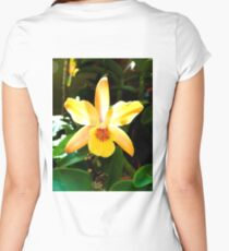 Backlit Orchid  Women's Fitted Scoop T-Shirt