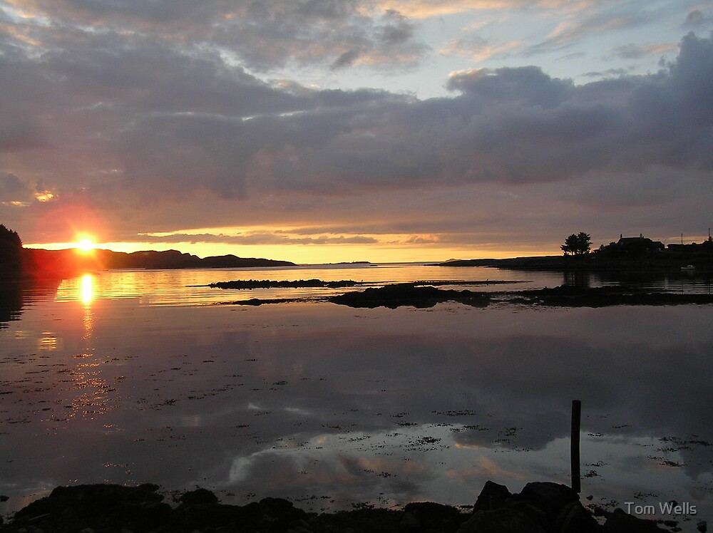 Sunset on Mull by Tom Wells