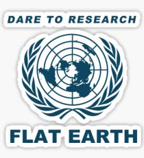 Dare to Research Flat Earth - Flat Earth Theory Map Logo Classic Sticker