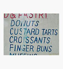 Donuts...Finger Buns Photographic Print