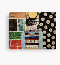 Hipster Kitten Canvas Print