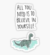 believe loch ness monster Sticker