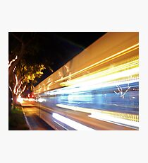 Faster than a speeding Bus Photographic Print