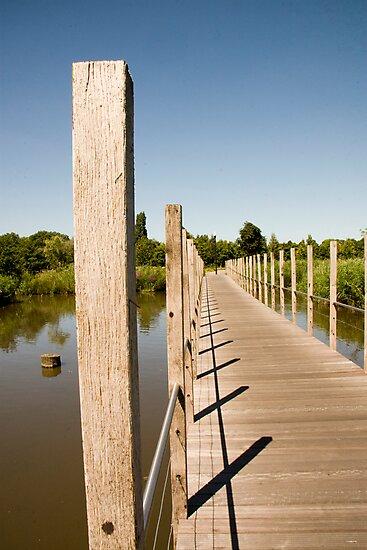 wooden bridge by Katherine Maguire