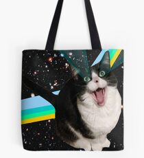 Space Cat Fluff Pillow Tote Bag