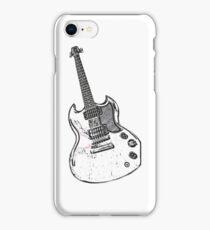 Black & White Guitar iPhone Case/Skin