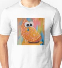CRYING ORANGE with GOOGLY EYES Unisex T-Shirt