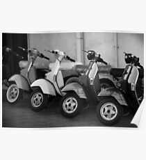 4 Scooters - Photograph by Anthony Symes Poster