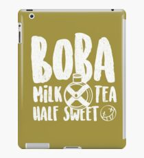 Boba Milk Tea, Half Sweet iPad Case/Skin
