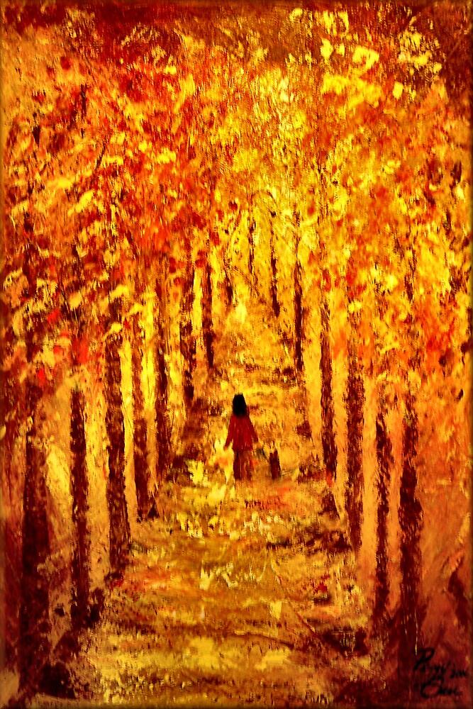 Autumn Stroll by Peggy Garr