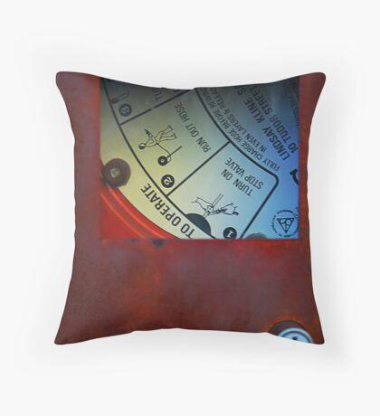 Fire Hose Reel Throw Pillow