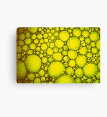 Yellow Algae Oil on Water Canvas Print