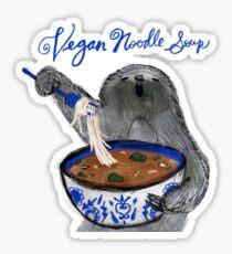 Vegan Noodle Soup Sloth Sticker