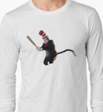 Cat In The Hat Baseball Bat Meme T-Shirt