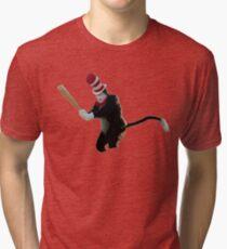 Cat In The Hat Baseball Bat Meme Tri-blend T-Shirt
