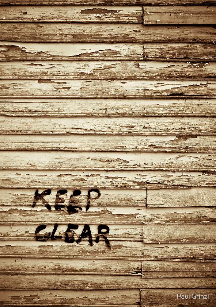 Keep Clear by Paul Grinzi