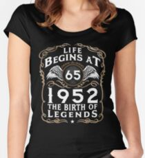 Life Begins At 65 1952 The Birth Of Legends Women's Fitted Scoop T-Shirt