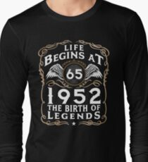 Life Begins At 65 1952 The Birth Of Legends T-Shirt