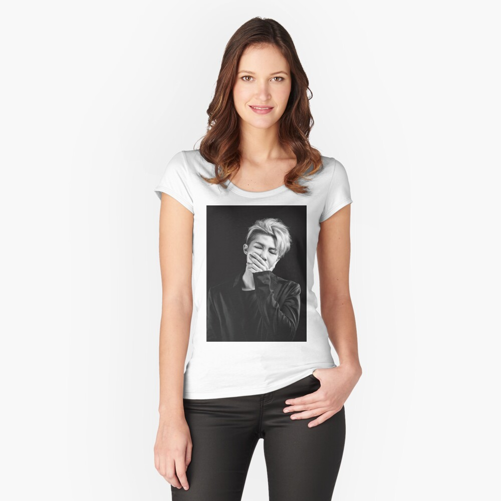 Rap Monster Women's Fitted Scoop T-Shirt Front