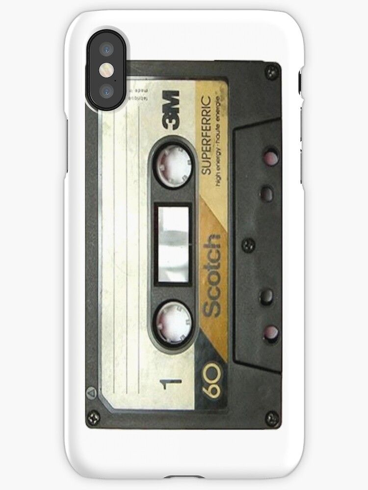 case iphone 8 cassette tape