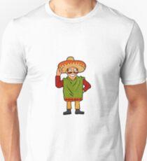 Cartoon happy Mexican Unisex T-Shirt